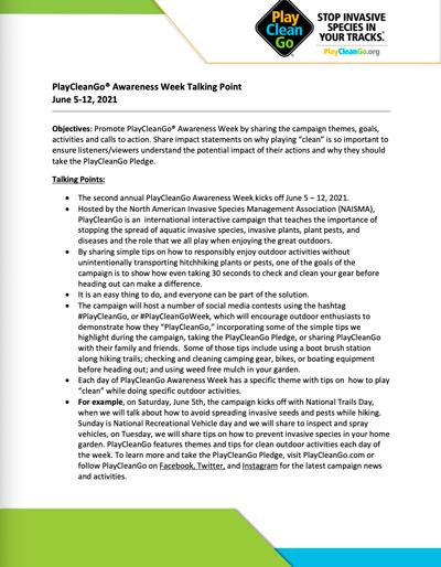 talking points document screenshot