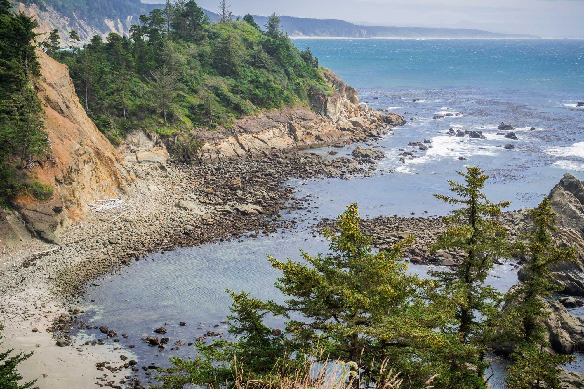 protected cove on the Oregon Coast
